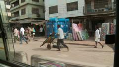 Business by the road, Nigeria - stock footage
