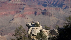 Grand Canyon beautiful cliff lookouts pan 4K Stock Footage