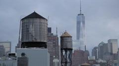 World Trade Center Evening Manhattan New York City Stock Video Stock Footage