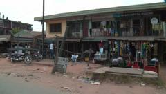 Hustle & bustle by road Nigeria #3 Stock Footage