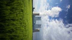 Power Station And Rye Field, Vertical Stock Footage