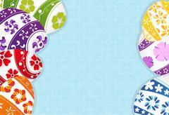 Multi-colored Easter eggs background Stock Illustration