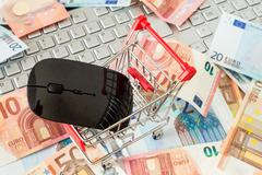 Internet online shopping concept - stock photo