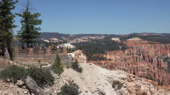Tourism overlook Bryce Canyon National Park Utah 4K Stock Footage