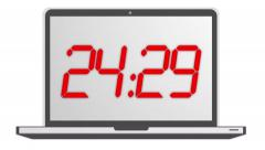 Count Down Timer animation in red 4K LCD LED Stock Footage