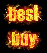 Fire Text Best Buy Stock Illustration