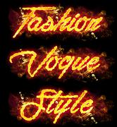 Stock Illustration of Fire Text Fashion Vogue Style