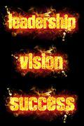 Fire Text Leadership Vision Success Stock Illustration