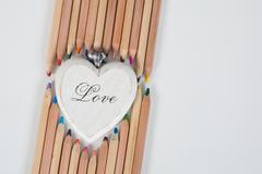 Declaration of love - stock photo