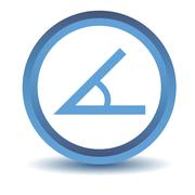 Blue Sign of the angle icon Stock Illustration