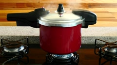 Pressure cooker - stock footage