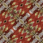 Collage Ornament Religious Pattern - stock illustration