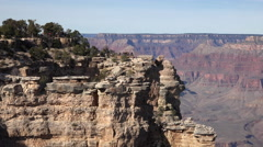 Grand Canyon beautiful lookouts pan 4K Stock Footage