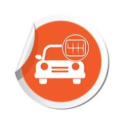 Cars transmission ORANGE LABEL Stock Illustration