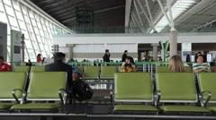 Passengers at Brasilia Airport in Brasilia, Brazil. Stock Footage