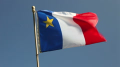 Acadian Flag Stock Footage