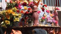 Virgin del Carmen festival parade in Pisac(Peru) on July 16, 2011. Stock Footage
