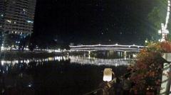 Loi khrathong, Ping river, Chiang Mai. Stock Footage