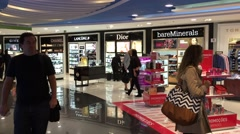 Duty Free Shop at Brasilia Airport, Brazil Stock Footage