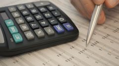 Close-Up Balancing The Accounts - stock footage