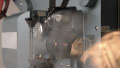 16 mm movie projector - stock footage