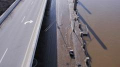 Ohio River Flood Mess Louisville Riverfront Mud Stock Footage