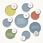 Simply infographic step by step template Stock Illustration