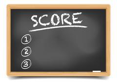 List Score - stock illustration