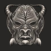 Demon Mask Stock Illustration