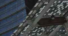 Milano, Unicredit Tower, a detail of the downstair area of the building. Stock Footage