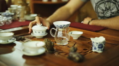 Chinese Tea Ceremony - stock footage