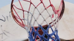 Stock Video Footage of Basketball Net