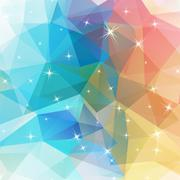 Polygonal abstract geometry background with shiny elements - stock illustration
