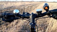 Off-road bike spring trip Stock Footage