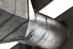 Ducts of industrial ventilation system Stock Photos