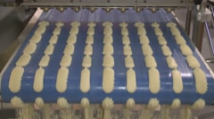 Stock Video Footage of Preparing dough for baking a variety of of confectionery products