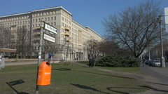 Karl-Marx-Allee with street sign, Berlin Stock Footage