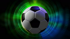Rotating Soccer Ball as 3d Animated Sports Motion Graphics Background Stock Footage