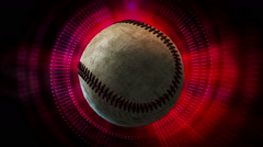 Rotating Baseball Ball as 3d Animated Sports Motion Graphics Background Stock Footage