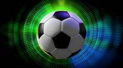 Rotating Sport balls as Opening Intro 3d Animated Sports Motion Graphics - stock footage