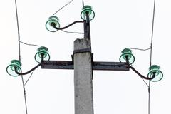 Part of transmission pillar - stock photo
