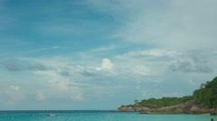 Cloudscape timelapse. Karon beach, Phuket, Thailand Stock Footage