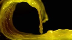 Wave of orange juice Stock Footage