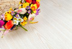 artifical flowers - stock photo