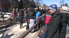 Elmira maple syrup festival Stock Footage