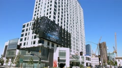 4K, UHD, Digital electronic, billboard in Los Angeles, California Stock Footage