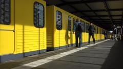 U-Bahn arrives, Berlin - stock footage