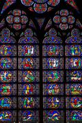 Stock Photo of Notre Dam window