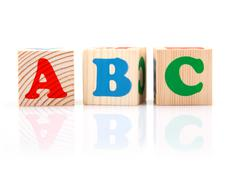 ABC Play Blocks Stock Photos