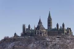 Canadian Parliament - Centre Block Stock Photos